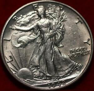 1942-D Denver Mint Silver Walking Liberty Half