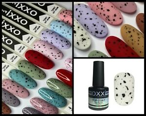 Matte Top Coat Black Confetti Oxxi Top Cover Quail egg for Nail Art 10 ml