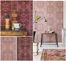 Vlies Tapete orientalisches Wandteppich Muster rose bordeaux rot ethno look