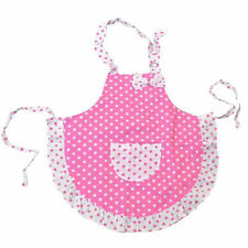 Cotton Kids Child Butterfly Pattern Apron Painting Cooking Dots Kitchen Pinafore