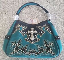 Suede Montana West Purse New W/Tags Turquoise SWC-8291 TC