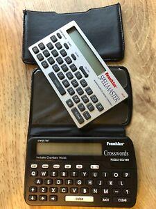 2 X Franklin Spellmaster QC 95  Pocket spell check + Crosswords  CWQ-100 VGC