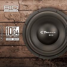 """CT Sounds Bio 2.0 10 Inch D4 250 Watt RMS 10"""" Dual 4 Ohm Car Audio Subwoofer Sub"""