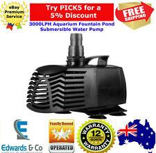 Aquarium Fountain Submersible Pond Pump 45W 3000LPH Silent Salt & Fresh Water