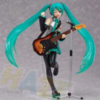 Hot Anime Hatsune Miku 14cm PVC Figure Figurine Model Movable Toys Guitar In Box