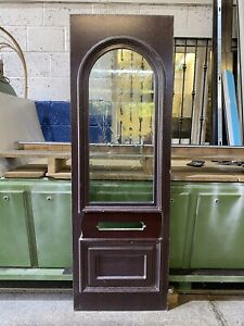 UPVC Door Panel, New Rosewood On white 575mm By 1735mm Height 28mm Thick (P220)