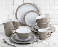 Modern 16pcs Dinner Set Plates Bowls Cups Stoneware Dinnerware Crockery Kitchen