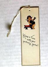 Vintage Bridge Tally Baby Angel Charub Playing Spade