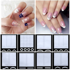 24 Sheet French Manicure Nail Art Tips Form Guide Sticker Polish Stencil W0466