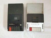 Vintage cassette tape recorder / players x2 bundle FOR PARTS