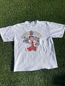 Vintage 90s Betty Boop T Shirt XL Puff Print Single Stitch USA Las Vegas Rare
