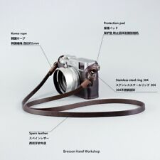 Bresson Genuine Leather Camera Neck Strap Brown for DSLR Leica Fujifilm Sony