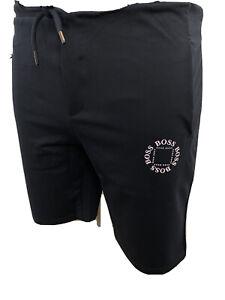 Mens Cotton Short Cube Logo BNWT Navy/grey Hugo Boss 2020 Medium
