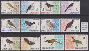 Samoa 1967-69 Birds set of 12v. MNH** 133 Euro Scarce & Rare!
