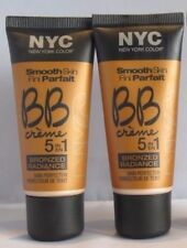 2 X NYC Smooth Skin BB Crème 5 In 1 Bronzed Radiance Skin Perfector 005 Medium