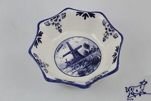 Fuente Bandeja de Ceramica HOLANDA  Delfts Blue EAT,  Imagen Molino de viento.