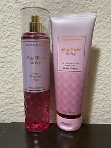 BATH & BODY WORKS - ROSE WATER AND IVY - SET OF BODY CREAM & BODY MIST - NEW