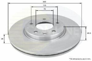 FOR CHEVROLET ORLANDO 1.4 L COMLINE FRONT COATED BRAKE DISCS ADC1153V