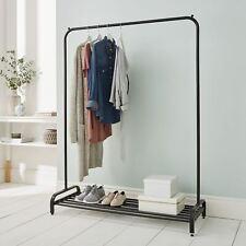 Garment Rack Clothes Rail With Shoe Storage Shelf & Adjustable Feet