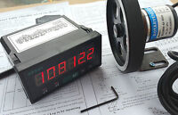 12 inch Length Wheel + Encoder + Support + Counter Grating 0.1'' Display Meter