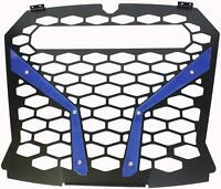 """MODQUAD FRONT GRILL BLUE POL RZR S WITH OUT 10"""" LIGHT RZR-FGL-XP1KS-BL"""