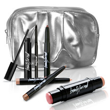 Beauty For Real BFR Ultimate Eye Essentials Skin Looks Smooth Silver Makeup Bag