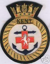 UK British HMS Royal Navy Kent Patch Badge Ship Frigate Destroyer Cruiser Class