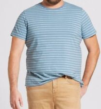 New Mossimo Supply Co. Men's T-shirt - Verona Blue Stripes 4XB 4X BIG