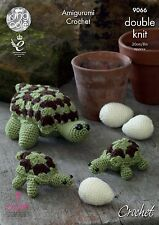 King Cole Luxe Fur Knitting Pattern 9019 Teddy Bears in 3 Sizes