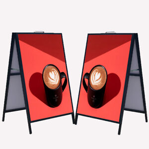 """Heavy-Duty A-Frame Folding Sign Holder 23½"""" x 35½"""" Double-Sided Display"""