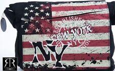 Robin Ruth DESIGNER NEW YORK CITY CANVAS AMERICAN FLAG MESSENGER BAG SET