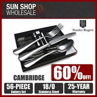 100% Genuine! STANLEY ROGERS Cambridge 56 Piece Cutlery Set! RRP $299.00!