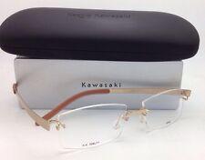 New KAZUO KAWASAKI Titanium Eyeglasses MP 704 11 SA/52 Rimless Gold Frames