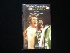 1974-75 Boston Celtics Media Guide EX