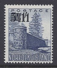 1960 NORFOLK ISLAND 1/1d SURCHARGE ON 3½d FINE MINT MNH/MUH