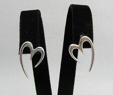 Boucles d'oreilles en argent sterling COEURS 925 neuf parfait qualité e000240