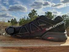 Salomon Mens Speedcross 4 Black Trail Running Shoes Size 9.5 383130