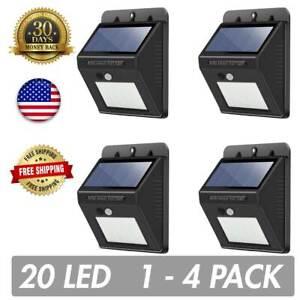 Outdoor 20 LED Solar Power Wall Lights Motion Sensor Garden Security Yard Path