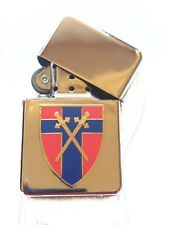 British Army Of The Rhine Chrome Plated Windproof Petrol Lighter in Gift Box