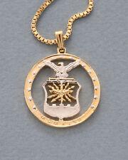 "Air Force Challenge Coin Pendant & Necklace Hand Cut 1 1/2"" Diameter ( # 754 )"