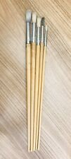 5 Various Unbranded Paint Brushes - See Photo