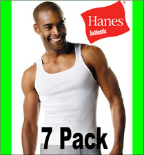 7-Pack Hanes Men's TAGLESS ComfortSoft A-Shirt White Wife Beater - Size S-XL