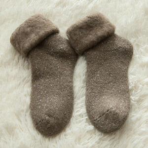 1 Pair Winter Warm Funny Happy Male Womens Socks Soft Wool Thicken Thermal Socks