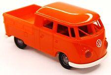 H0 BREKINA Volkswagen VW T1b Doka Transporter Pritsche Pickup orange # 32813