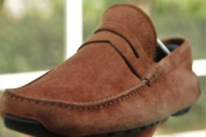 Bally Waldon Classic Rodeo brown Suede Drivers shoes loafer sz 8.5US 10 Approx.