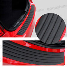 "35"" Rear Guard Bumper Protector Trim Cover Sill Trunk Scuff Plate Rubber Black A"