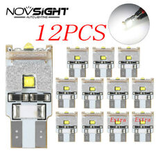 12Pcs T10 W5W 194 168 CREE LED Light Bulbs Car Auto Interior Dome Map Lamp 12V