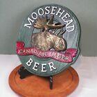 "Vintage Moosehead Beer Canadian Lager Bar Sign 13"" Brewery Plastic"