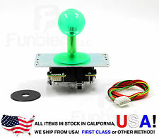 Sanwa Original Japan Arcade Joystick JLF-TP-8YT-SK Translucent Clear GREEN Ball