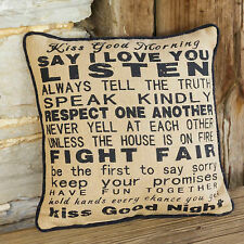 "Accent Throw Pillows Kiss Good Morning 14""x14"" Full Pillow Home Decor Pillows"